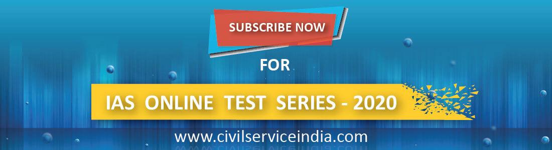 Online Test Series 2020 for IAS Aspirants