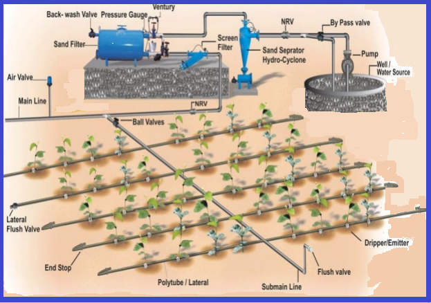 means of irrigation in india