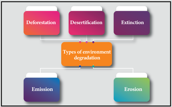 environmental pollution and degradation causes of environmental  types of environmental degradation